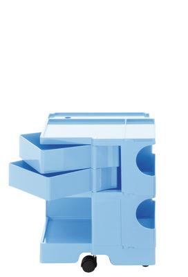 Desserte Boby / H 52 cm - 2 tiroirs - B-LINE bleu ciel en matière plastique
