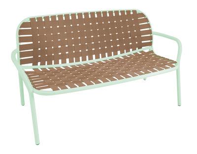 Foto Divano angolare destro Yard / 2 posti - L 139 cm - Emu - Verde,Beige - Tessuto Divano destro