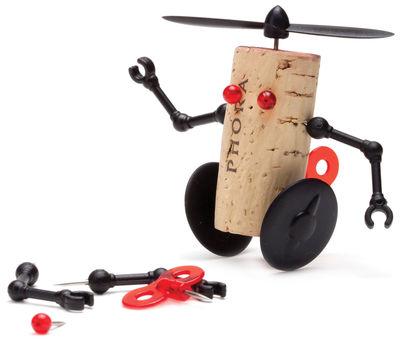 Décoration Corker Robot / Pour bouchon de liège - Pa Design multicolore en matière plastique