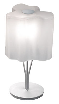 Lighting - Table Lamps - Logico Micro Table lamp by Artemide - White - Height 33 cm - Blown glass, Varnished metal