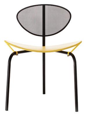 Chaise Nagasaki / Matégot - Réédition 1954 - Gubi jaune,noir en métal