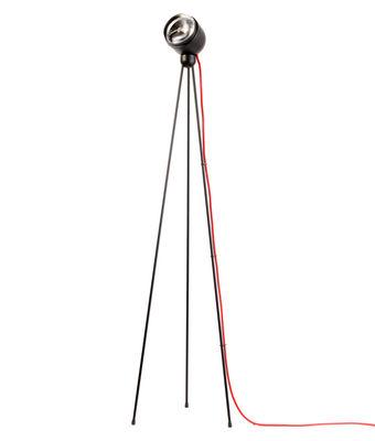 Foto Lampada a stelo Tripod 180° - / LED di Azimut Industries - Rosso,Nero - Metallo
