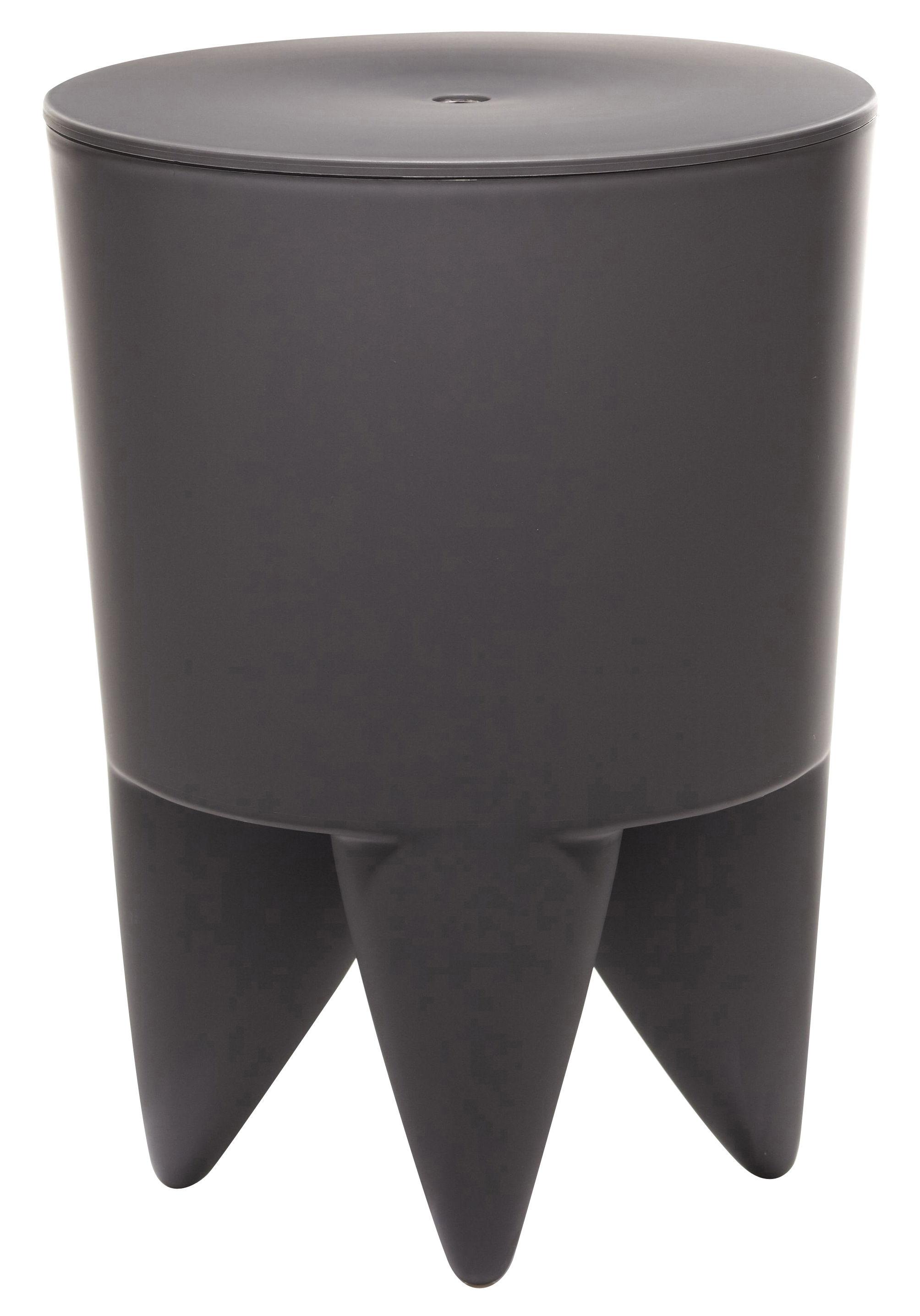 tabouret new bubu 1er coffre plastique gris charbon xo. Black Bedroom Furniture Sets. Home Design Ideas