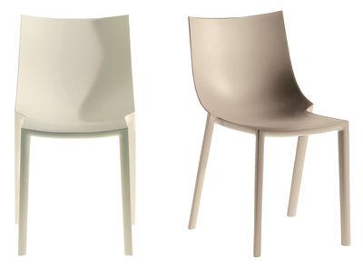 Chaise empilable bo plastique orange driade for Chaise empilable plastique