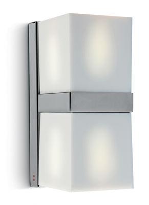 Applique Cubetto White Glass double Fabbian blanc en verre