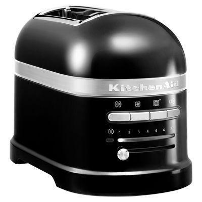 Grille pain Artisan 2 tranches Capteur de chaleur électronique KitchenAid noir onyx en métal