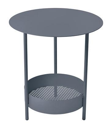 Foto Tavolino con piede centrale Salsa / Ø 50 x H 50 cm - Fermob - Carbone - Metallo Tavolino rotondo
