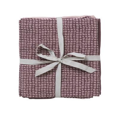 Déco - Pour les enfants - Lange pour bébé / Débarbouillette coton - Lot de 3 - Ferm Living - Rose - Coton biologique