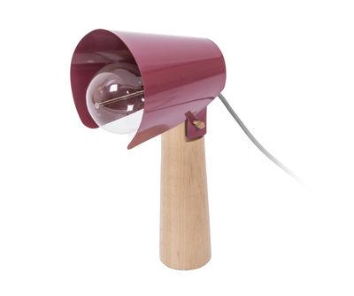 Luminaire - Lampes de table - Lampe de table Sister / H 38 cm - ENOstudio - Rouge marsala - Acier laqué, Hêtre