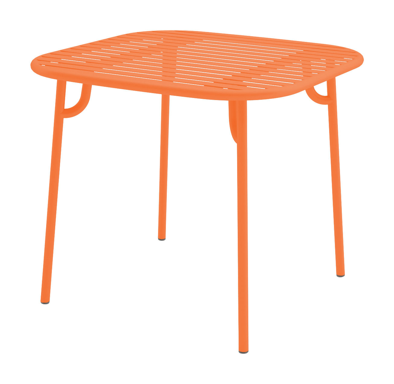 Week end table 85x85 cm orange by oxyo for Orange outdoor side table
