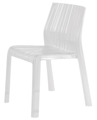 Chaise empilable Frilly opaque / Polycarbonate - Kartell blanc opaque en matière plastique