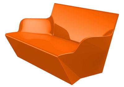 Image of Sofà Kami Yon - versione laccata di Slide - Laccato arancio - Materiale plastico