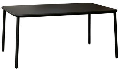 Table Yard / Aluminium - 160 x 97 cm - Emu noir en métal