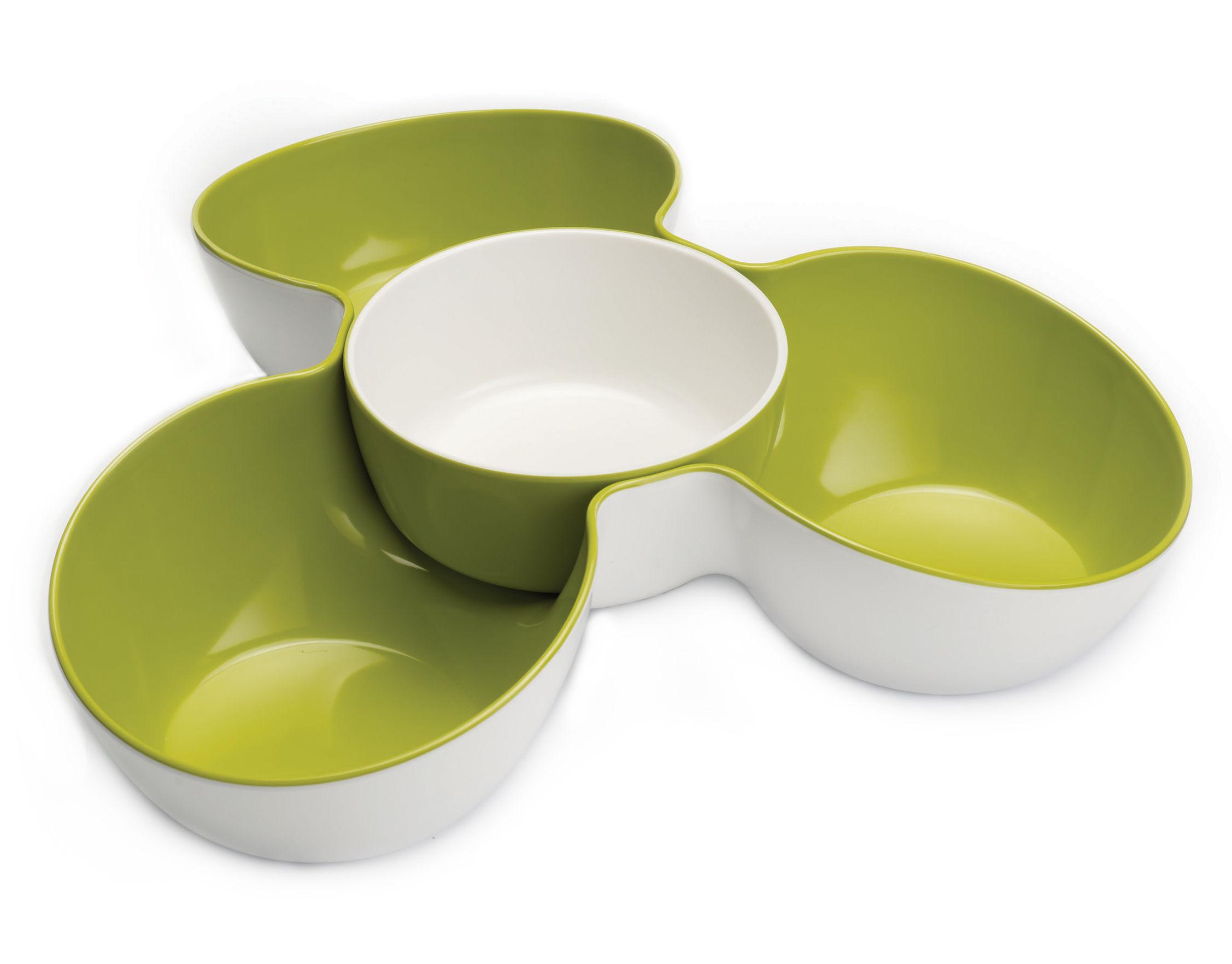 set ap ritif triple dish plat 3 compartiments bol amovible vert blanc joseph joseph. Black Bedroom Furniture Sets. Home Design Ideas