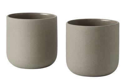 Arts de la table - Tasses et mugs - Mug Push / Set de 2 - Muuto - Gris - Grès