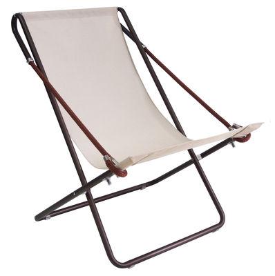Vetta Chaise longue - / Pieghevole - 2 posizioni nocciola ...