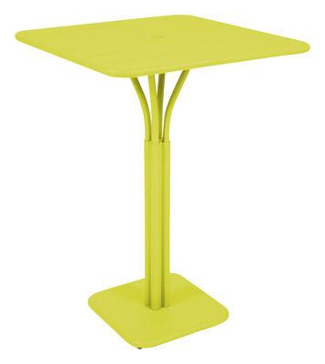 Foto Tavolo bar alto Luxembourg - 80 x 80 x A 105 cm di Fermob - Verbena - Metallo