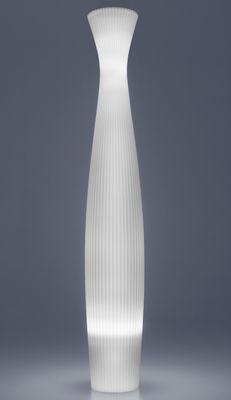 Lampadaire Scarlett Modèle d'expositon Serralunga blanc en matière plastique