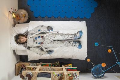 Scopri biancheria da letto 1 persona astronaute 1 persona 140 x 200 cm bianco astronauta - Biancheria da letto bambini ...
