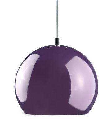 Luminaire - Suspensions - Suspension Ball Small / Ø 18 cm - Réédition 1968 - Frandsen - Violet brillant - Métal peint