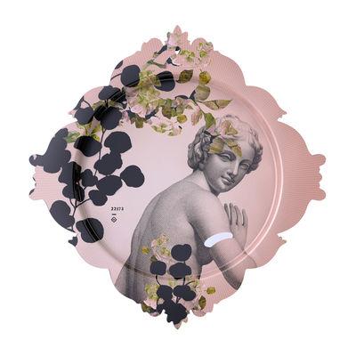 Arts de la table - Plateaux - Plateau Buste / L 48 x H 50 cm - Ibride - Buste / Rose & gris - Stratifié compact