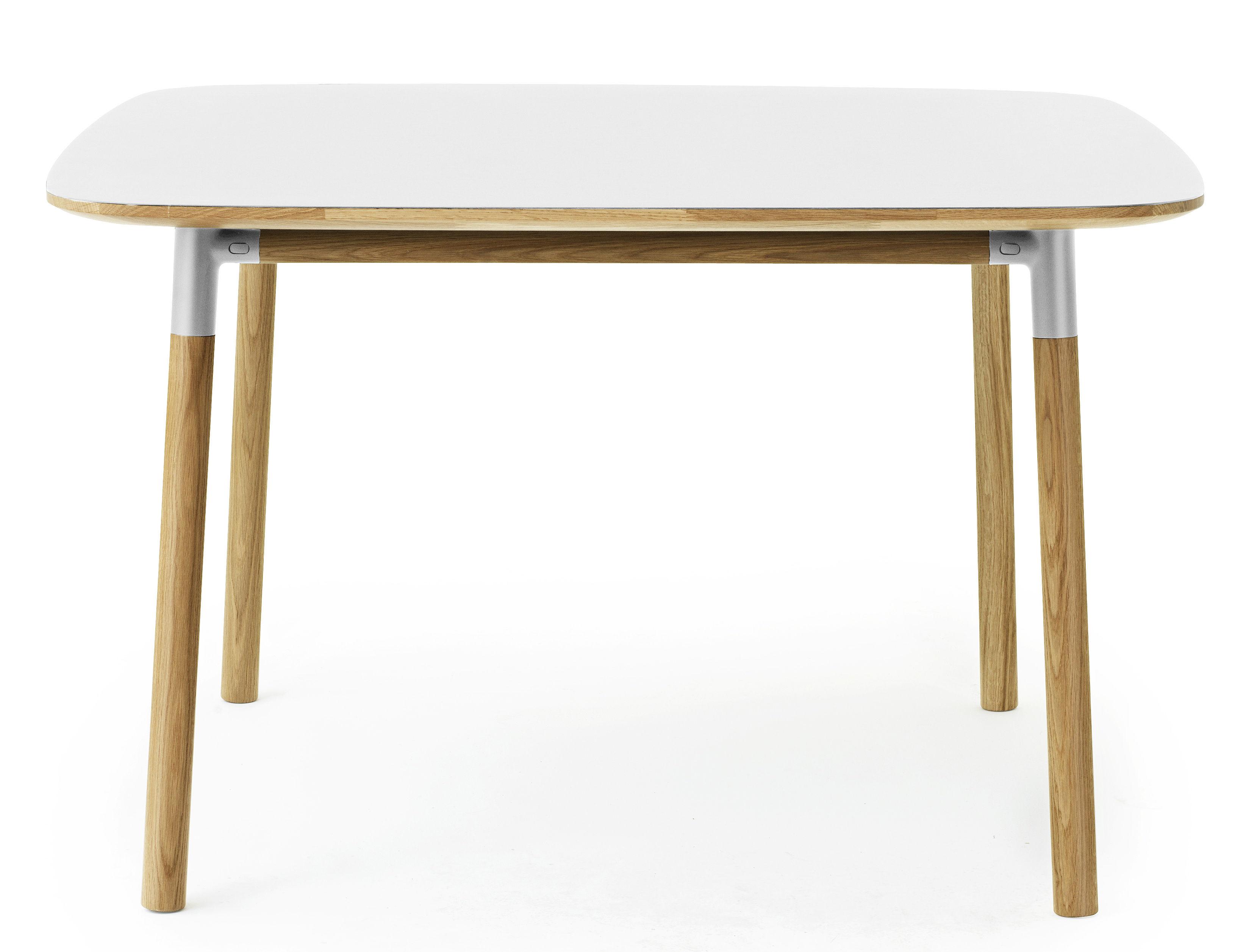 Form table 120 x 120 cm white oak by normann copenhagen for 120 table