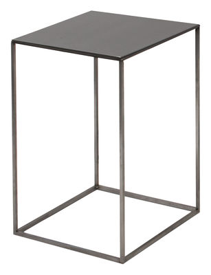 Tavolino Slim Irony - / 31 x 31 x H 46 cm di Zeus - Nero ramato,Nero fosfatico - Metallo