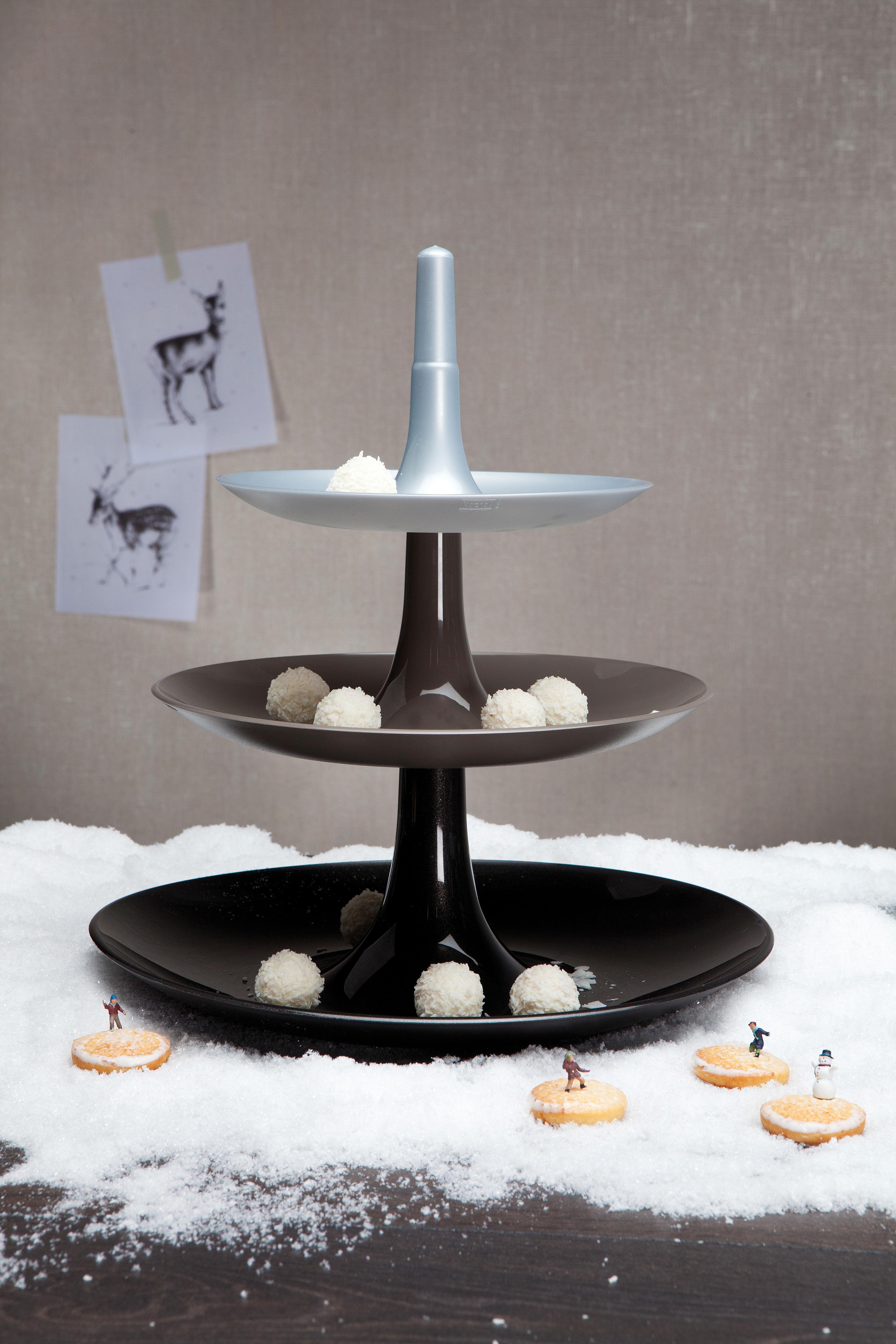 porte fruits babell 31 4 x h 34 cm argent opaque koziol. Black Bedroom Furniture Sets. Home Design Ideas
