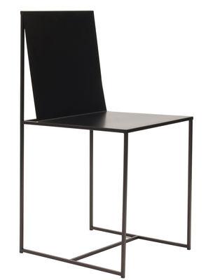 Mobilier - Chaises, fauteuils de salle à manger - Chaise Slim Sissi / Métal - Zeus - Noir cuivré - Acier