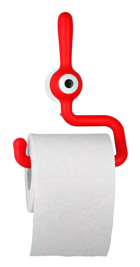 d rouleur de papier toilette toq fraise koziol made in design. Black Bedroom Furniture Sets. Home Design Ideas