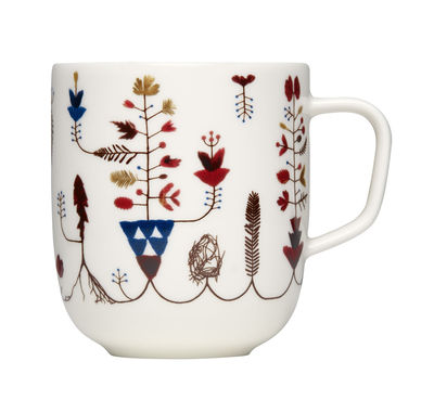 Mug Varpu / 36 cl - Iittala blanc,multicolore en céramique