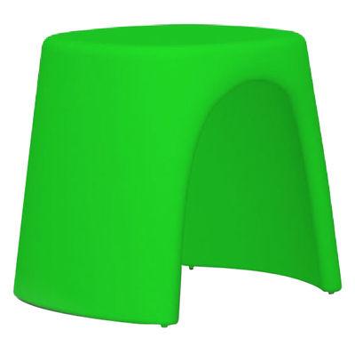 Foto Sgabello impilabile Amélie di Slide - Verde - Materiale plastico