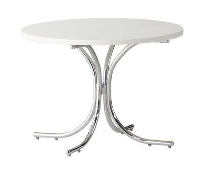 Table basse Modular / MDF - Ø 50 x H 36 cm - Verpan blanc chromé en bois
