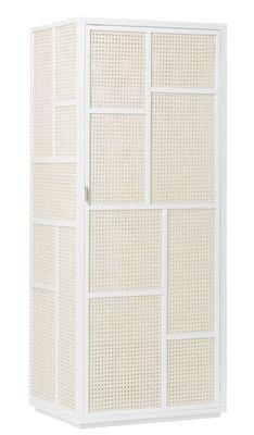 Foto Armadio Air / Impagliatura bambù - L 70 x H 170 cm - Design House Stockholm - Bianco,Rattan naturale - Fibre