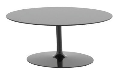 Flow coffee table h 30 cm gloss black by mdf italia for Coffee tables 30cm wide