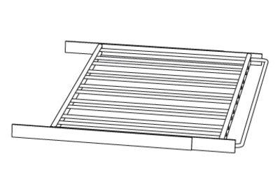 Image of Accessorio - per cantinetta - Mensola a scorrimento di L'Atelier du Vin - Nero - Metallo