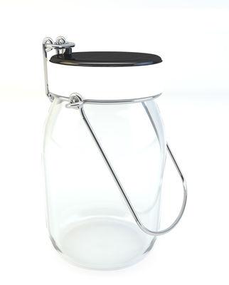 Lampe solaire Luciole LED Lumière froide Tistéane blanc en verre