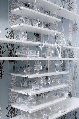 Etag re string plex pocket l 60 x h 50 cm blanc montants transparents s - Etagere plexiglas design ...