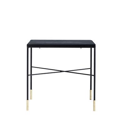 Tavolino basso OX / 40 x 40 x H 40 cm - House Doctor - Nero / Ottone - Metallo