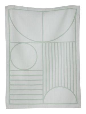 Torchon Outline - Ferm Living gris,vert menthe en tissu