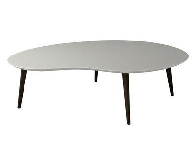 table basse lalinde xxl haricot l 130cm pieds noirs gris clair pieds noirs sentou edition. Black Bedroom Furniture Sets. Home Design Ideas