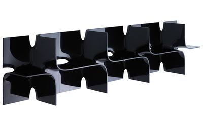 Etagère Tide modulable - L 45 x H 45 cm - Magis noir brillant en matière plastique