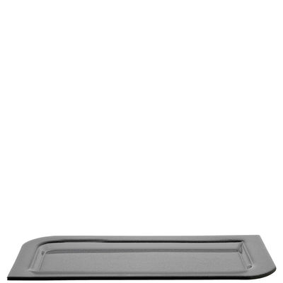 Coupe Smoked Lucca / Assiette - 25x48 cm - Leonardo gris en verre