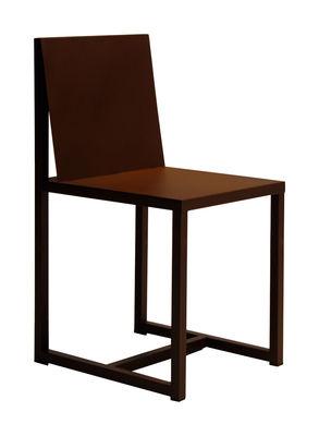 chaise rusty teresa acier effet rouille rouille zeus. Black Bedroom Furniture Sets. Home Design Ideas
