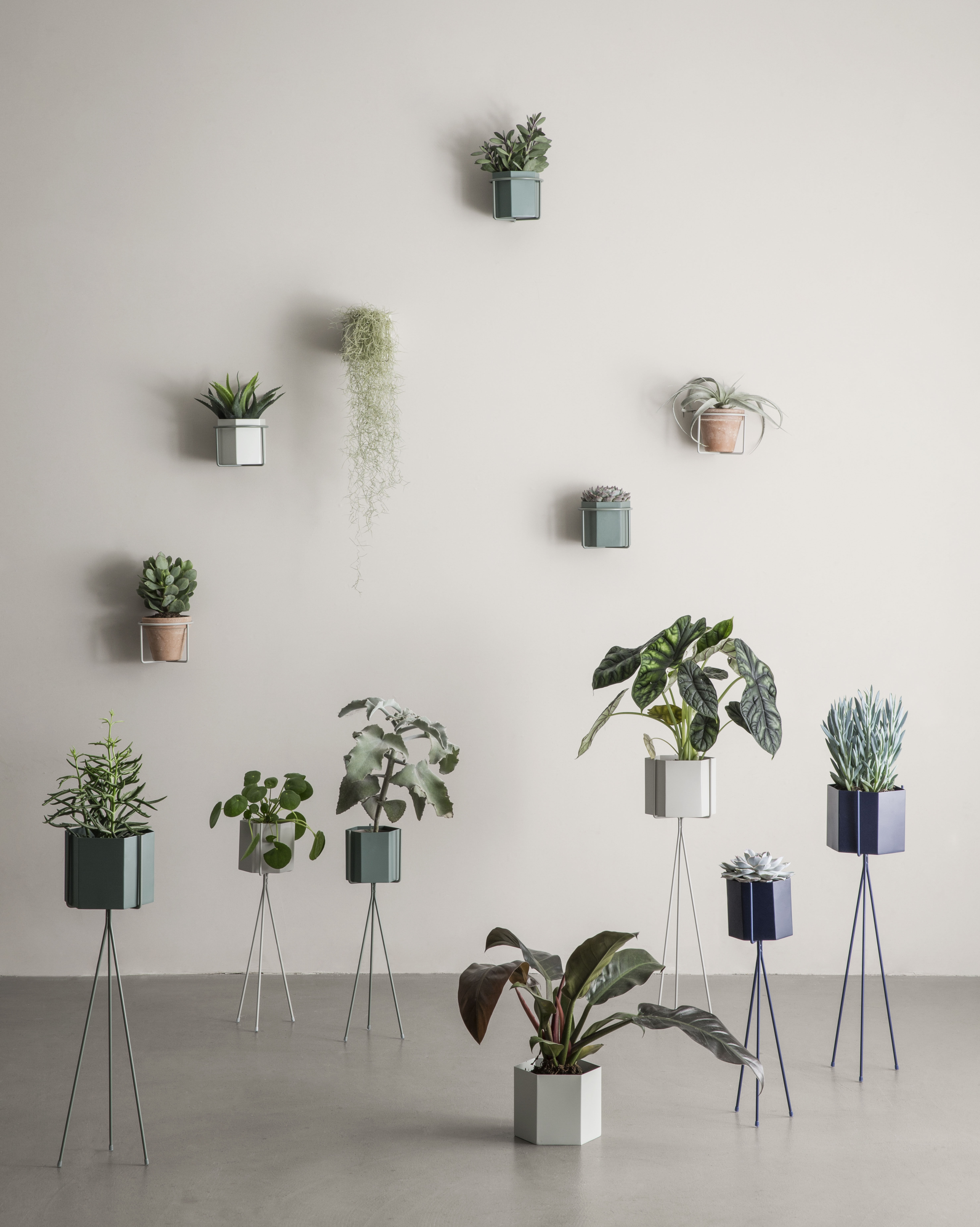 Support Mural Plant Pour Pot De Fleurs Gris Ferm Living