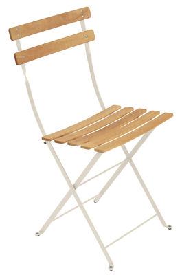Chaise pliante Bistro / Métal & bois - Fermob bois,lin en bois