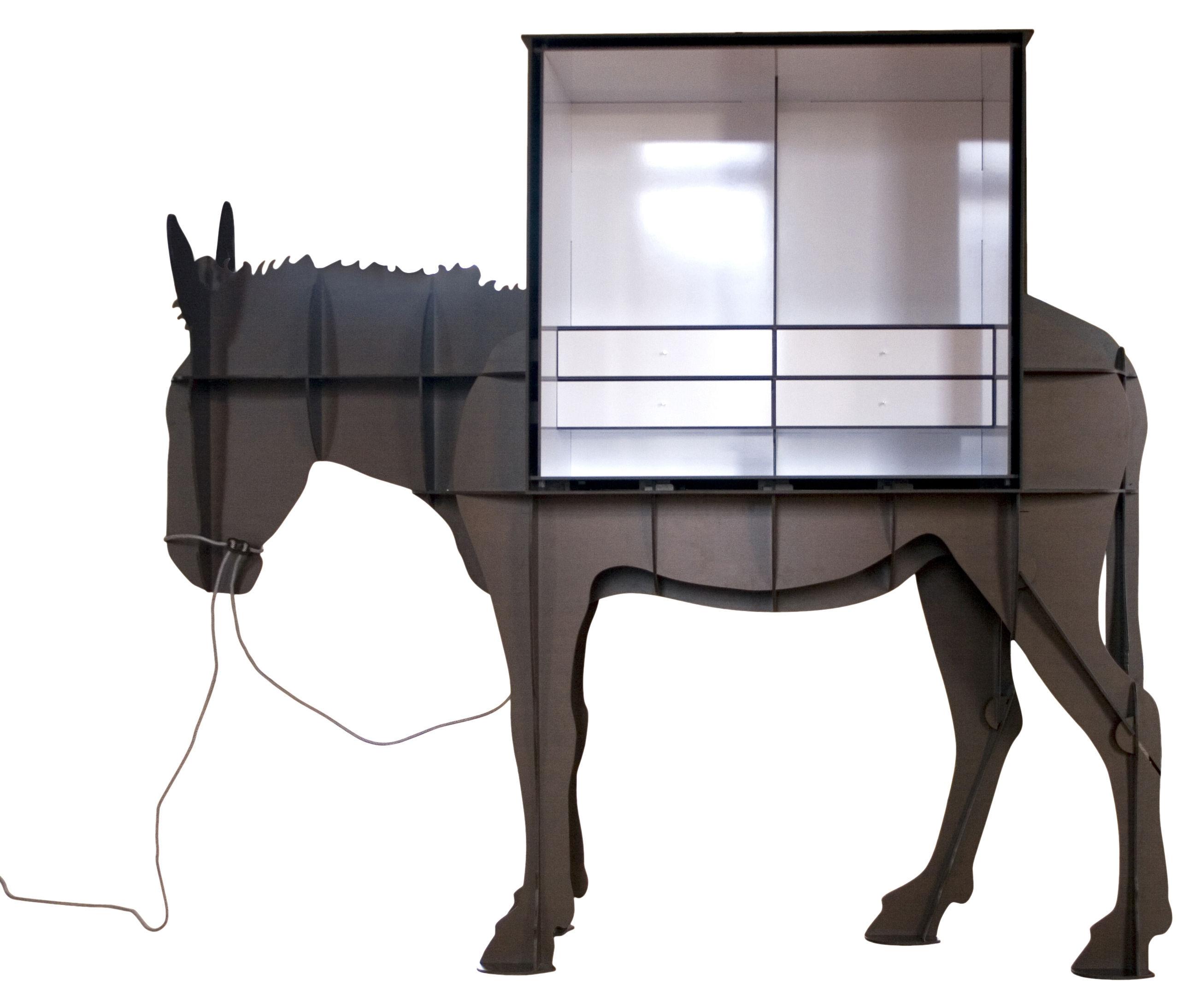 Bureau martin meuble ordinateur brun bross ibride - Meuble martin ...