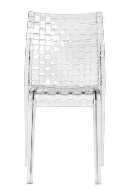 Chaise empilable Ami Ami Polycarbonate transparent Kartell cristal en matière plastique