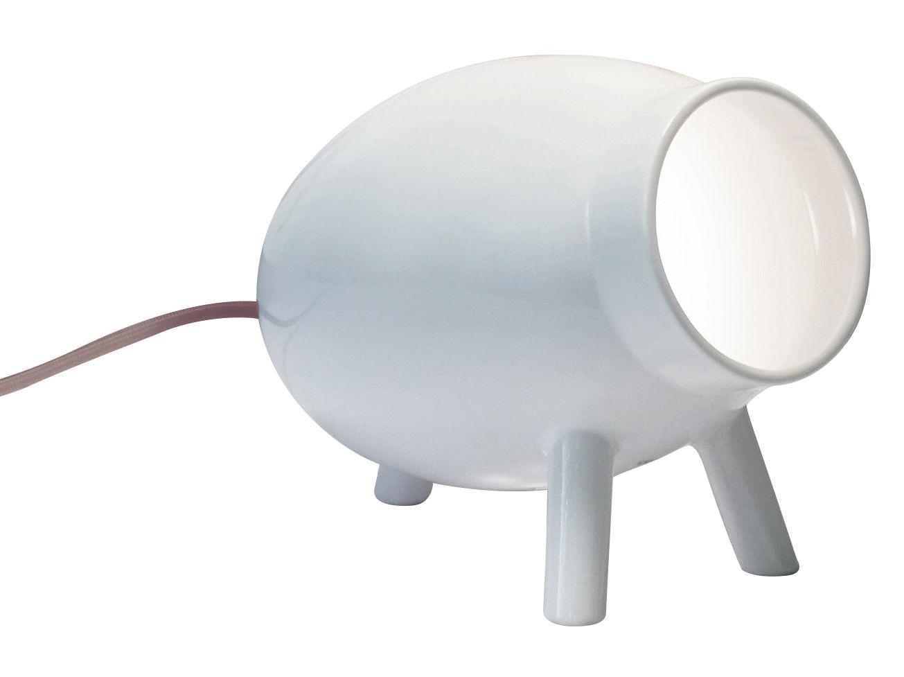 lampe de table lumoid c ramique fait main blanc. Black Bedroom Furniture Sets. Home Design Ideas