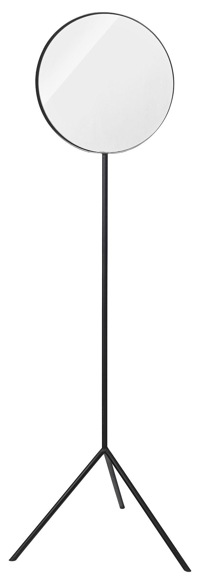 miroir sur pied tripod h 180 cm noir bloomingville